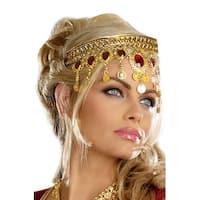 Dreamgirl Dripping Rubies Headpiece - GOLD