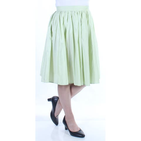 MAXMARA Womens Green Knee Length Pleated Skirt Size 6