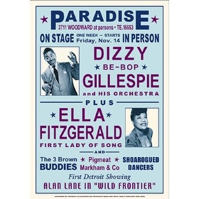 ''Dizzy Gillespie and Ella Fitzgerald, Detroit, 1947'' by Anon Music Art Print (24 x 17 in.)