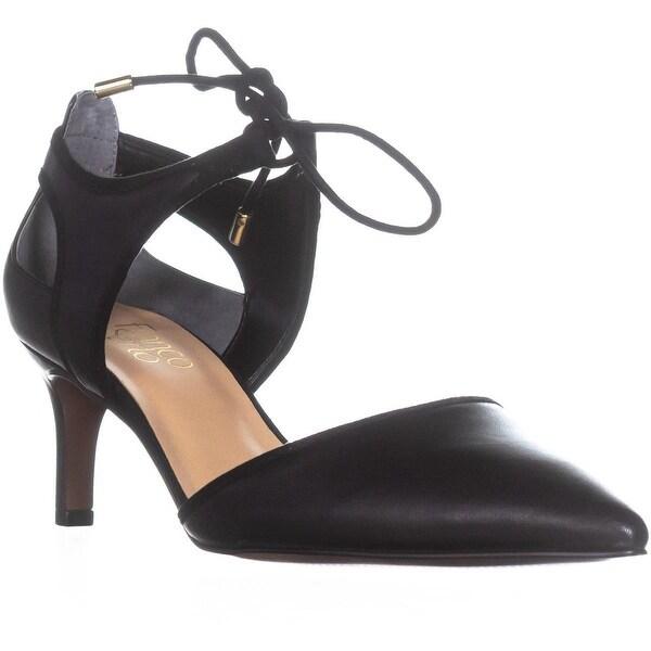 Franco Sarto Darlis Lace Up Dress Pumps, Black Leather - 8 w us