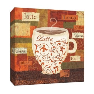 """PTM Images 9-153557  PTM Canvas Collection 12"""" x 12"""" - """"World Flavor III"""" Giclee Coffee, Tea & Espresso Art Print on Canvas"""