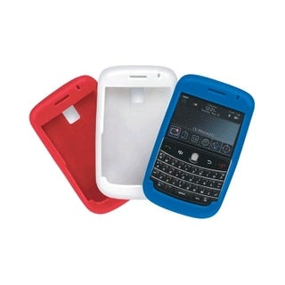 Red, White, Blue - Body Glove Silicone Case for Blackberry Bold 9000 (3 Pack)