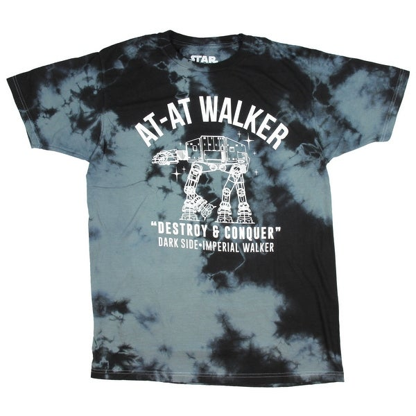 Shop Star Wars AT-AT Walker Destroy   Conquer Tie Dye Men s T-Shirt - On  Sale - Free Shipping On Orders Over  45 - Overstock - 21549449 35c69614e