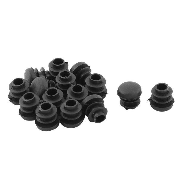 Family Plastic Dust Resistant Table Feet Tube Pipe Insert End Cap Black 15pcs