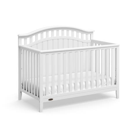 Graco Harper 4-in-1 Convertible Crib, White, Easily Converts to Toddler Bed, Day Bed or Full Bed