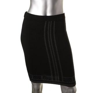 Studio M Womens Jeanette Pencil Skirt Ponte Knit Stretch
