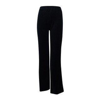 Style & Co. Women's Short-Length Velour Active Pants (Deep Black, 3XP) - Deep Black - 3x petite