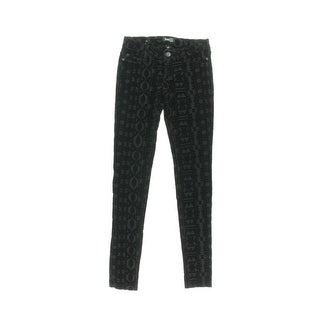 Celebrity Pink Womens Juniors Skinny Pants Velvet Pattern