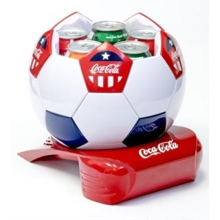 Koolatron CCSB5 Coca Cola Soccer Ball Cooler - White/Red