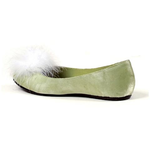 Tinker Womens Green Satin Shoes