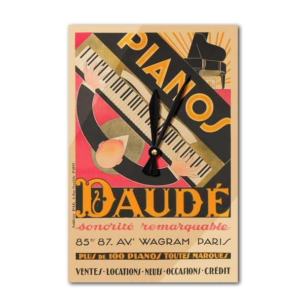 Pianos Daude Sonorite Remarquable Daude 1926 (Acrylic Wall Clock) - acrylic wall clock