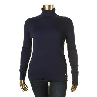 Lauren Ralph Lauren Womens Ribbed Knit Mock Pullover Sweater