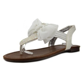 Material Girl Swan Women  Open Toe Synthetic White Thong Sandal