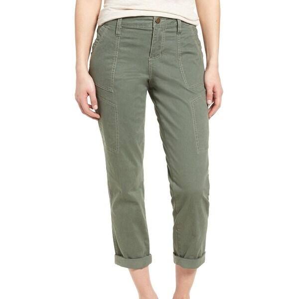 JAG Jeans Womens Capris Button-Front Stretch Pants