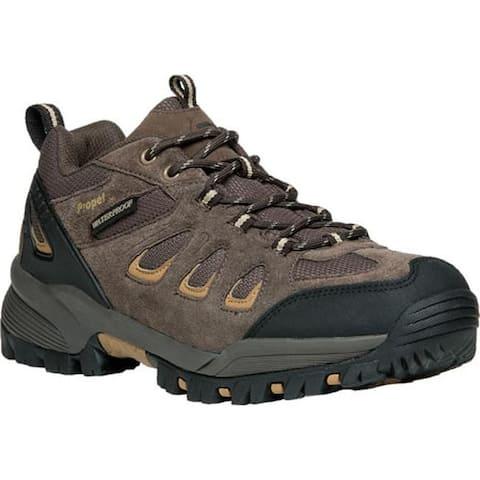 Propet Men's Ridge Walker Low Hiking Shoe Brown Suede/Mesh