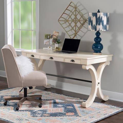 Willowbrook White 3-drawer Writing Desk