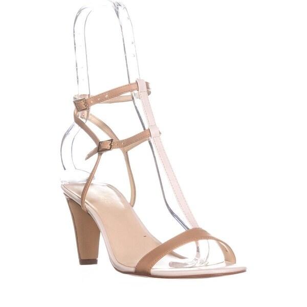 Nine West Dacey T-Strap Dress Sandals, Medium Natural Multi - 8.5 us