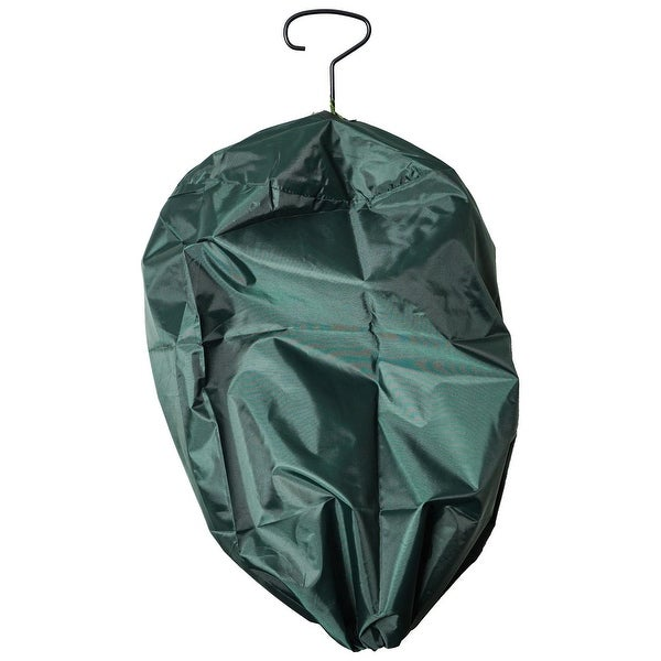 Christmas Garland Protective Storage Bag with Hanging Hook For Standard Garland - green