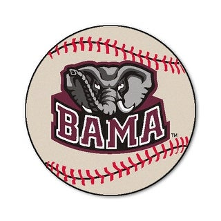 University of Alabama Crimson Tide Baseball Area Rug