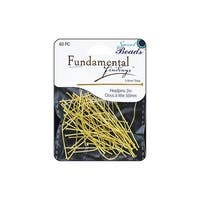 Sweet Beads Fund Find Headpin 50x0.8mm 60pc Gold