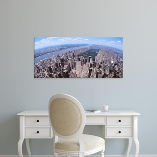 Easy Art Prints Panoramic Images's 'Aerial view of a city, Manhattan, New York City, New York State, USA' Canvas Art