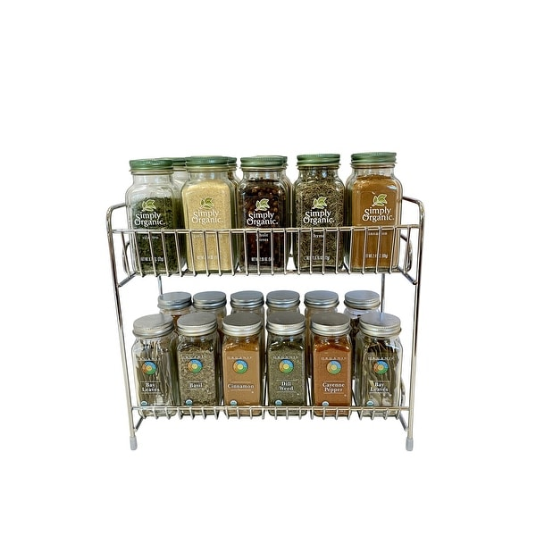 Evelots Free Standing 2-Tier Countertop Rack-Chrome Plated Iron - 2 Tier. Opens flyout.