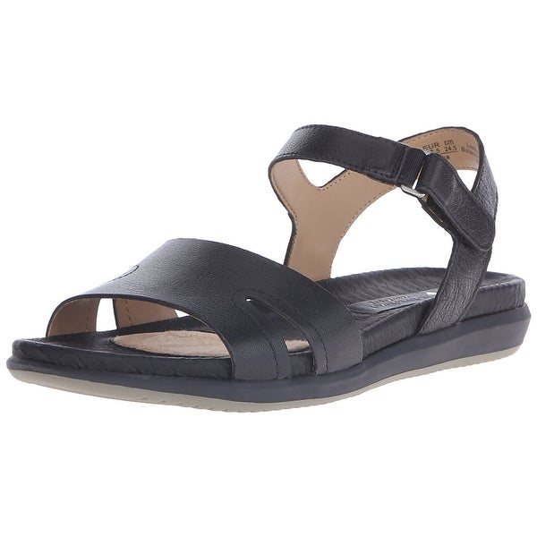Naturalizer Womens Selama Leather Open Toe Casual Slingback Sandals