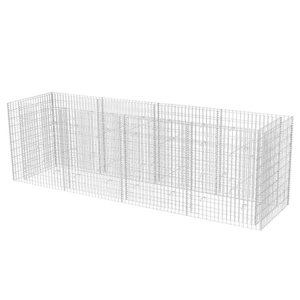 """vidaXL Gabion Planter Steel 141.7""""x35.4""""x39.4"""""""