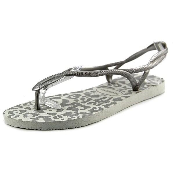 Havaianas Luna Women Open-Toe Synthetic White Slingback Sandal