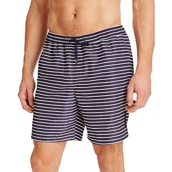 452630018f Shop Michael Kors NEW Blue Men's Size 2XL Midnight Striped Swim Trunks -  Free Shipping On Orders Over $45 - Overstock - 21182106