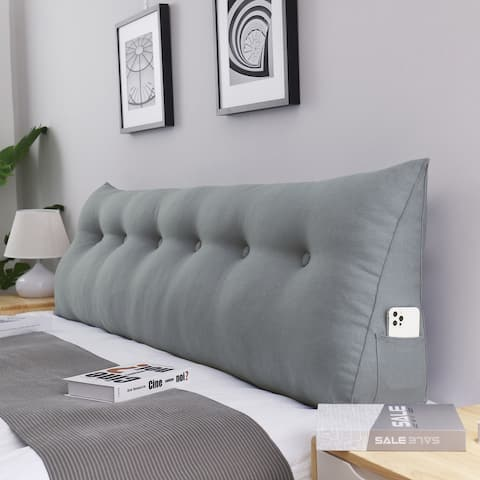 WOWMAX Bed Rest Reading Wedge Headboard Backrest Tufted Pillow