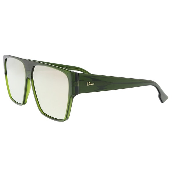 7673487ace7f Shop Christian Dior DIORHIT 01ED Green Square Sunglasses - 62-12-145 ...