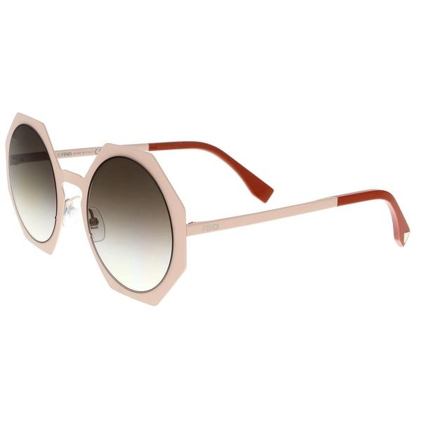 1040530c Shop FENDI 0152/S 0TTM- JS Powder Pink Irregular Sunglasses - 51-21 ...