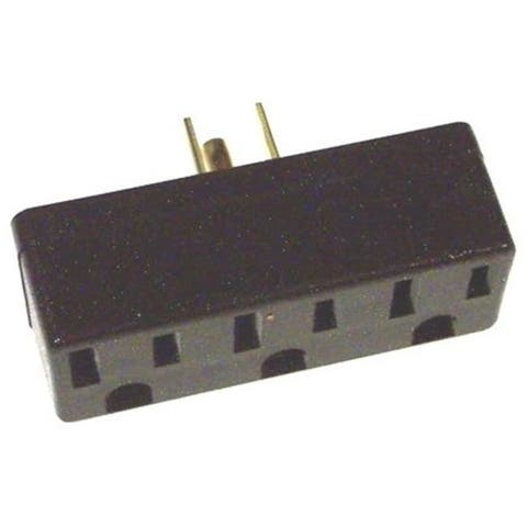 Leviton Ivory Triple Tap Plug-In Outlet Adapter 006-00697-00I