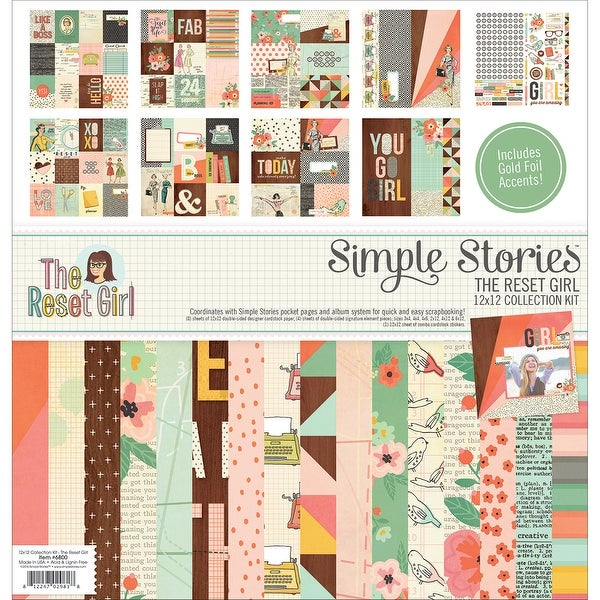 "Simple Stories Collection Kit 12""X12""-The Reset Girl"