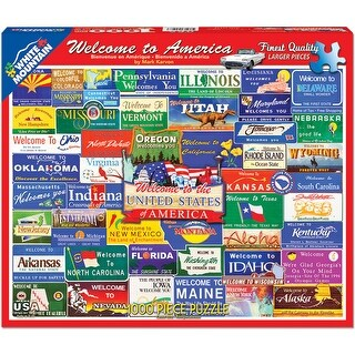 "Jigsaw Puzzle 1000 Pieces 24""X30""-Welcome To America"