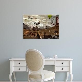 Easy Art Prints GraphINC's 'World Travel' Premium Canvas Art