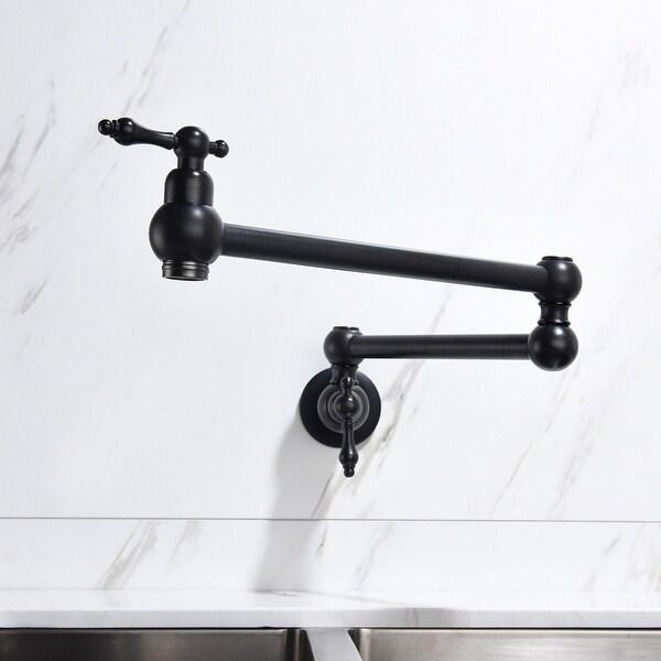 Pot Filler Faucet Wall Mount Chrome Folding Stretchable Brass Kitchen Faucet