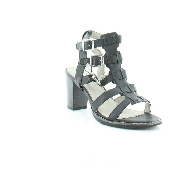 White Mountain Gemmy Women's Sandals & Flip Flops Black/Burn/Smooth - 9