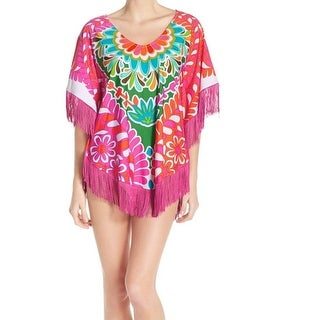 Trina Turk NEW Pink Fringed Women's Size Small S Swim Cover-Up