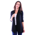 Simply Ravishing Women's Basic 3/4 Sleeve Open Cardigan (Size: Small-5X) - Thumbnail 8
