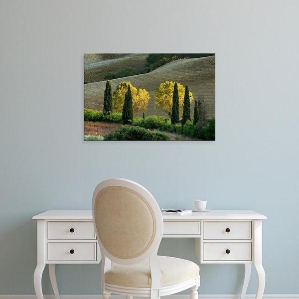 Easy Art Prints Adam Jones's 'Agricultural Field At Sunset' Premium Canvas Art