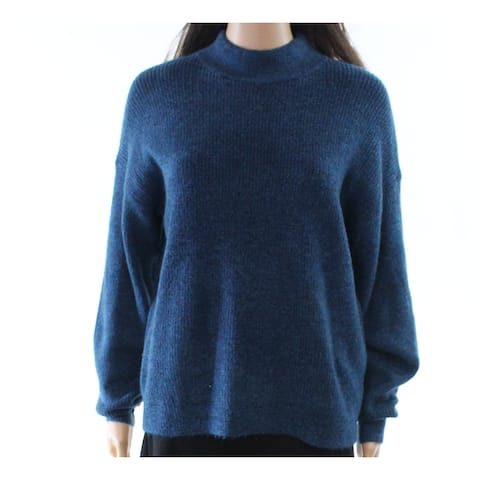 free press Blue Womens Size Small S Mock Neck Pullover Sweater