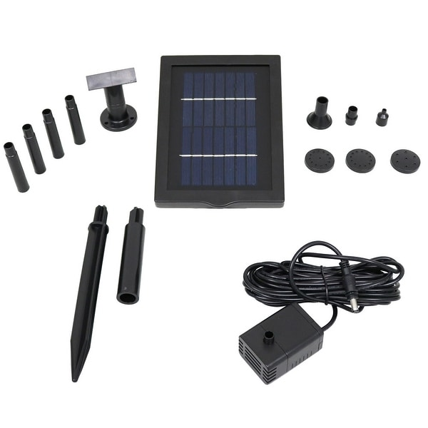 Sunnydaze Solar Pump & Solar Panel Kit With 5 Spray Heads 40 GPH 24 Inch Lift