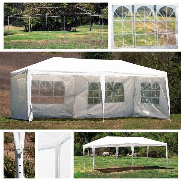 Shop Belleze 10 X20 Canopy W 4 Removable Side Wall Party