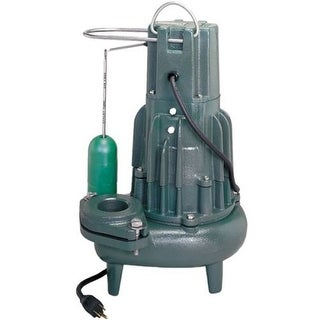 """Zoeller M282 1/2 HP Cast Iron Sewage Pump (2"""") with Vertical Float"""