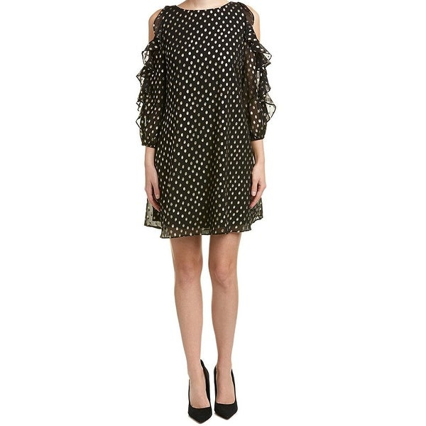 86a810c2 Shop Eliza J Womens Cold-Shoulder Ruffle-Trim Sheath Dress - Free Shipping  Today - Overstock - 21872221