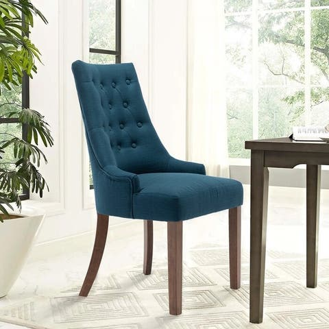 Tufted Upholstered Parsons Chair (Set of 2)