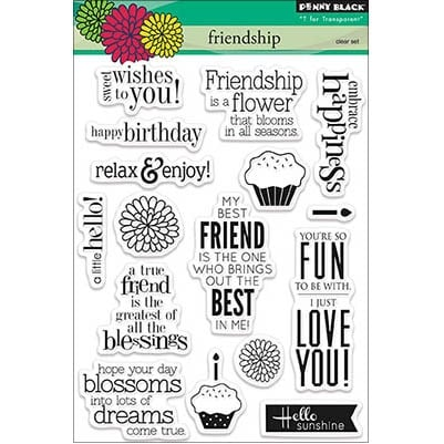 "Penny Black Clear Stamps 5""X7""-Friendship"