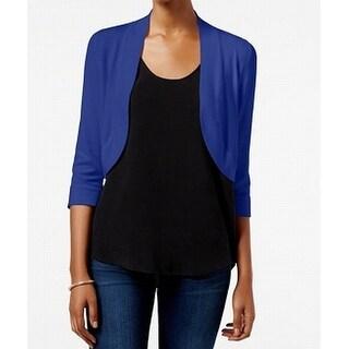 Jessica Howard Cobalt Womens Medium Bolero Sweater $24